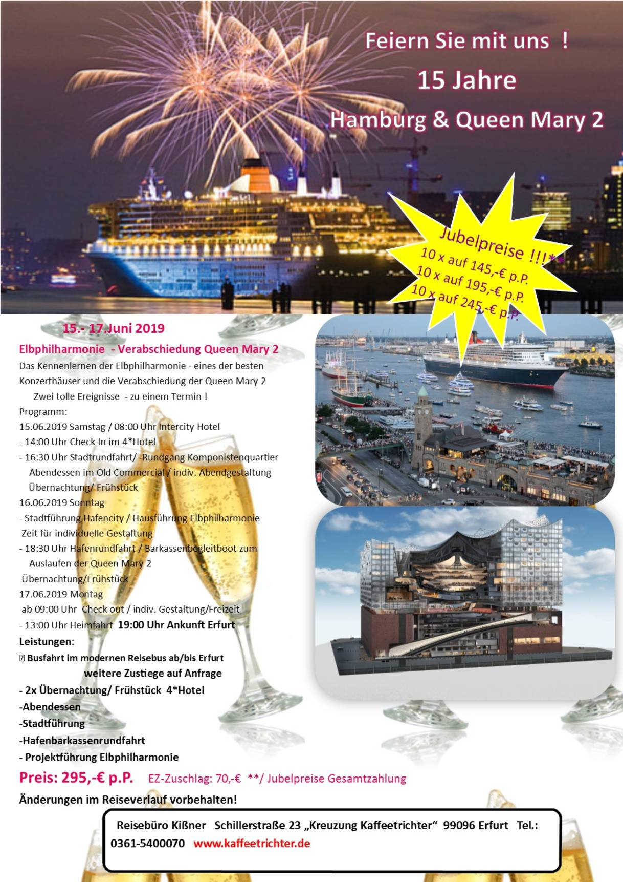 Hamburg und Queen Mary 2 Jubel